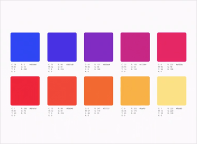 Instagram Colors Hex Rgb Cmyk Pantone Color Codes U S