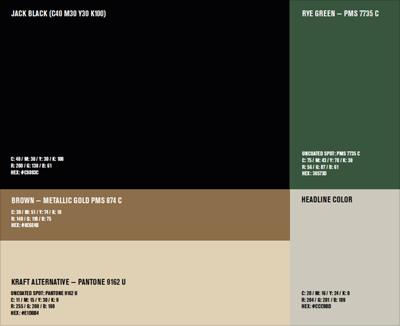 Jack Daniel's Colors - Hex, RGB, CMYK, Pantone | Color Codes